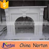 hand carved indoor decorative natural stone fireplace NTMF-F855S