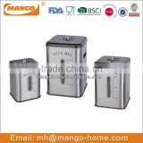 Customized matt stainless steel square box for rice storage