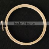 New products high quantity custom round bamboo embroidery hoop for clothes accessories wholesale made in china