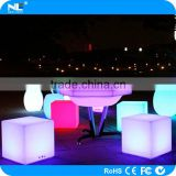 RGBW rechargable LED Cube /outdoor LED Cube seat/LED light cube with 16 colors change by remote