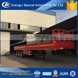 CLW factory bottom price 3 axle 40 tons side wall plate panel flatbed box semi trailer for sale