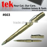 For tactical use customized self defense anodized gold gifts ball pen
