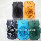 PU camellia phone package for iphone/coin purse