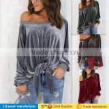 Long sleeve jersey knit top xxxl plus size blouses 2016 new designs patterns for fat ladies