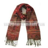 Breathable Styliest Jacquard Ladies Woven Wool Scarf