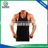 High Quality Low Cutting Muscle Bamboo Fitness men's Singlet In Black