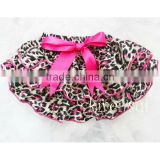 Hot Pink Leopard Satin Ruffles Panties Bloomers BSL5