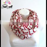 yawoo wholesale valentine's scarves love printed apparel design mommy and me infinity ladies fashion scarf knitted cotton scarf
