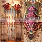 luxury european style window curtain, elegant drapes curtains, embroidered sheer curtains
