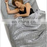 wholesale 3pcs stripe habutai Silk bedding set--shanghai texile