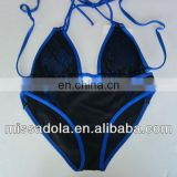 Sexy Black and Blue mesh two pieces swimwear /Bikini Trade Assurance supplier