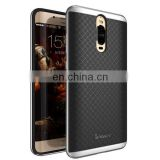 Grid Pattern Detachable 2 in 1 Hard PC Bumper Frame + TPU Back Cover Protector Case for Huawei Mate 9 Pro