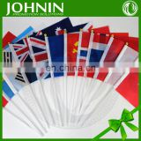 custom cute gift decorative screen printing hand shaking flag on stick