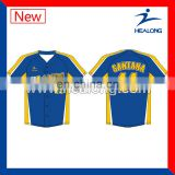 2017 China OEM Men Pullover Baseball Jersey Fully Sublimated Baseball Uniform OEM Shirt Baseball Jersey