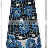 latest african royal blue swiss voile lace fabric from switzerland