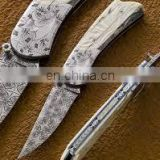 wholesale Damascus knifes - Custom Handmade Damascus Steel Hunting Bowie Knife.