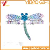 2016 Latest Butterfly Brooch Christmas Gifts/ Crystal Brooches For Women In Rhinestone Gold And Silver Plated Brooch Pins