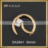 custom size gold plated high quality open O ring buckle