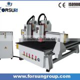 Made in China Double Head wood carving multi-spindle cnc router machine for door cabniet