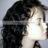 peruvian human hair full lace wig with baby hair