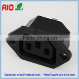 AC 250V 10A 3-Pin C14 female Jack Panel Mounting Power Inlet Socket