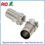 F Type Modular Crimp MALE PLUGEnds Connectors for RG6/U Coax Coaxial Cable