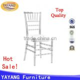 Cheap price fabric hotel restaurant plastic acrylic transparent clear resin chiavari chair cushions