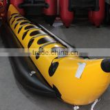 Outdoor funny water sports inflatable fly fish boat banana boat 7 persons