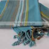 Cotton bath towel strip kikoy compressed beach sarong handloom kenyan kikoi