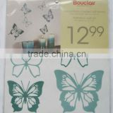 green butterfly pattern wall sticker for bedroom