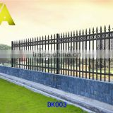 YT-003 Water proof wrought iron fence Ornamental prefab fence panels