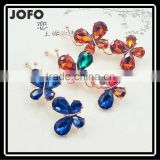 Fancy Cute Rhinestone Crystal Hairpin for Girls Colorful Stone Butterfly Hair Clips