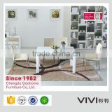 modern white high quality solid wood glass mirrored dining room table