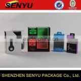 custom electronic packages, hard paper box packaging with clear pvc window                                                                                                         Supplier's Choice