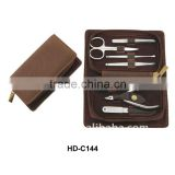 High classic nail clipper set with leather pouch
