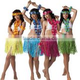 Fancy dress ladies women hawaii straw skirt set for canival party festival beach with fashion style BWG-2103
