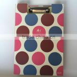 High Fashion School Stationery A4 Paper Double Size Clip Board With elastic