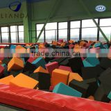 Custom color foam cubes for inflatable pool,hot sale foam pit,trampolines with foam pit for sale