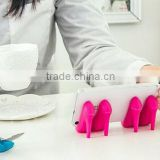 Charming silicone high-heel shoe mobile phone holder