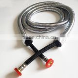 Double Lock Flexible Extension Stainless Steel Shower Pipe with EPDM Inner Pipe, X18410                                                                         Quality Choice