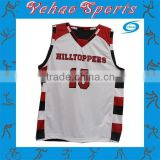 Custom made stripe practice basketball uniform white and black