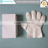 Biodegradable Clear PE gloves Disposable trasparent plastic gloves