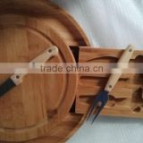 2016 best seller bamboo cheese board set with knife