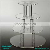 Round / Square Cake Stand Acrylic 4 Tiers Display Rack                                                                         Quality Choice