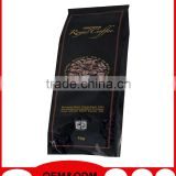 food grade coffee bean packaging bag with valve and zipper