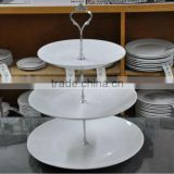 PORCELAIN DINNER PLATES 3 LAYERS PORCELAIN CAKE SET COUP SHAPE CAKE SET WITH STAND