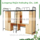 dormitory bed with wardrobe wooden and metal school bunk bed double deck metal bunk bed military/school double futon bunk bed