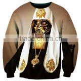 New fashion3D printing custom Darth Vader women men softtextile Sweatshirts crewneck t shirt