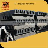 Hot-sold and high-quality D Type Rubber Fender for Dock