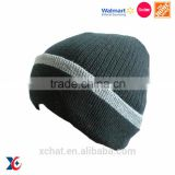 Walmart certification 100 acrylic knitting pattem custom pom pom beanie snapback hats wholesale
